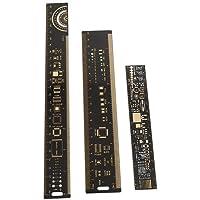 3PCS PCB Ruler 6.3/7.87/10.23 Pulgadas Ingenieros Electrónicos Herramienta