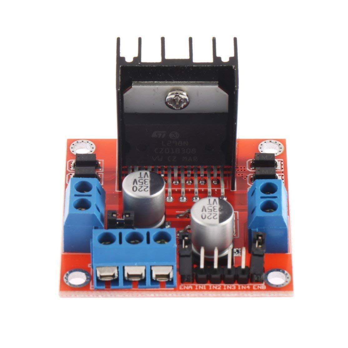LouiseEvel215 Dual H Bridge Stepper Motor Drive m/ódulo de la Placa del Controlador para Arduino L298N Motor Driver Board Module