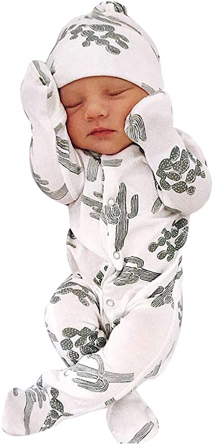 Aimik Pijama con Capucha para recién Nacido, Mono de Cactus ...