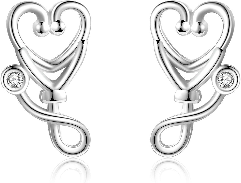 Nurse Earrings Nurse Necklace RN Jewelry LPN Jewelry BSN Jewelry Medical Jewelry Set Sweet Office Gift Xmas Stocking Stuffer Custom Add Name