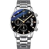 OLMECA Men's Watches Sports Fashion Business Diamonds Wristwatches Chronograph Calendar Date Waterproof Quartz Watches…