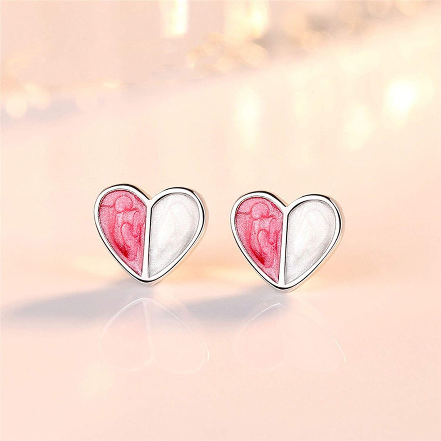 Fashion Jewelry 925 Silver Stud Earrings For Women Girl Romantic Style Ear Stud