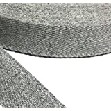 "Anrox Supply Co 1"" Heather Grey Cotton Herringbone Twill Tape USA (50 YARDS)"