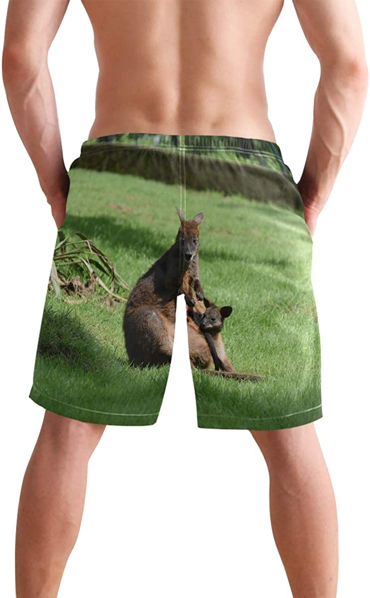 YOHHOY Mens 2 Pack Underwear Comfortable Breathable Trunks Low Rise Boxer Briefs Nice Pattern