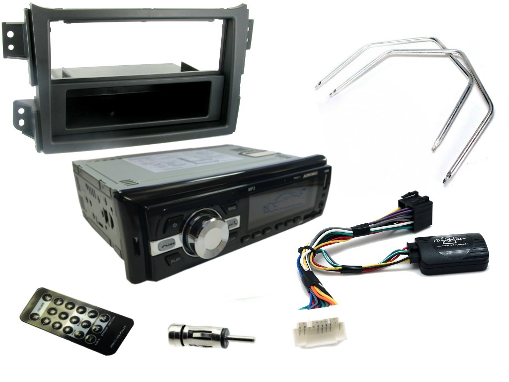 COMPLETE CAR STEREO UPGRADE REPLACEMENT KIT XtremeAuto/® #AGILA MK2 08 BLACK FASCIA