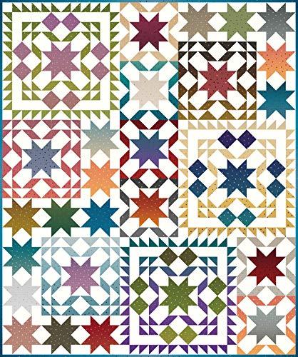 Gerri Robinson Gem Stones Star Sampler Quilt Kit Riley Blake Designs KT0138