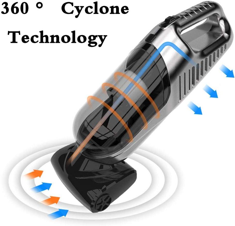 SYHSZ Aspirateur Portable Filaire 360 ° Forte Aspiration Cyclonique Buster Poussière Portable Silencieux Aspirateur Portatif Aspirateur,B C
