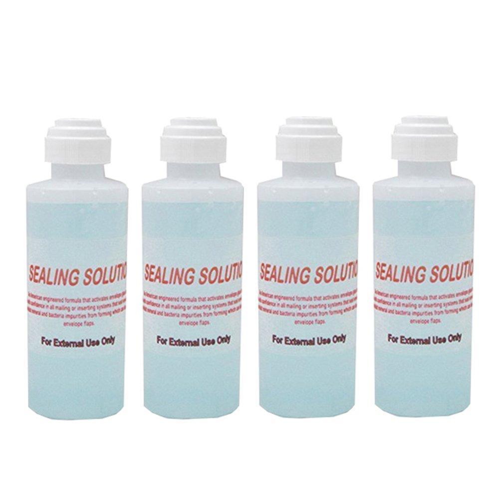 (Money Saver Four Pack) Envelope Moistener (480 ML) (14,400 Envelopes) E-Z Seal Compatible 4 oz. Dabber bottle of sealing solution Pitney Bowes Sealing Solution 601-7 Postage Stamp Envelope Seal