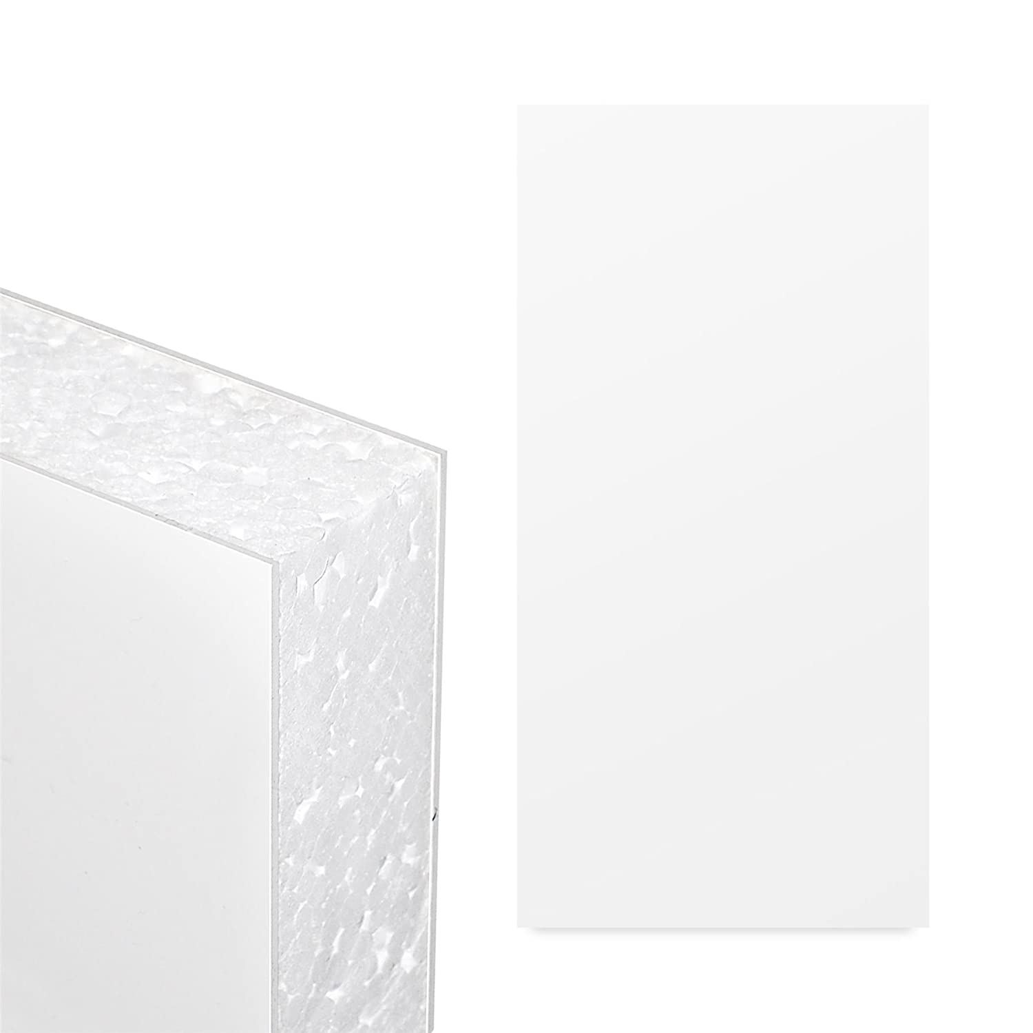 White UPVC Flat Door Panel (W: 1500mm x H: 750mm x D: 28mm) 28mm Thick Plastic Foam Filled Truly PVC Supplies