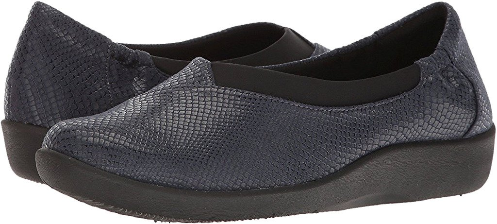 CLARKS Womens Sillian Jetay Closed Toe Loafers, Blue, Size 7.0