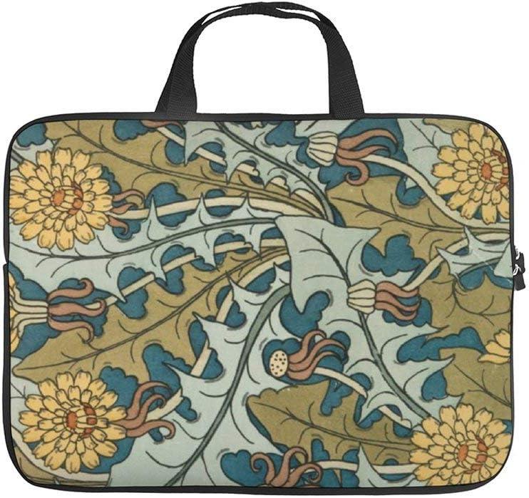 "Neoprene Sleeve Laptop Handbag Case Cover Art Nouveau Dandelion Pattern 10 Inch Laptop Sleeve Case for 9.7"" 10.5"" Ipad Pro Air/ 10"" Microsoft Surface Go/ 10.5"" Samsung Galaxy Tab"
