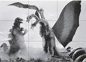 Doppelganger33 LTD Godzilla VS Ghidorah MOTHRA Giant Poster Print X1513