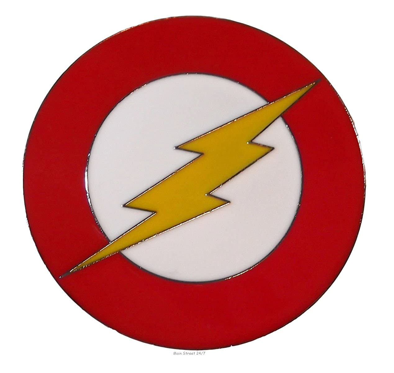 Amazoncom Flash Superhero Red Enamel Symbol Metal Belt Buckle