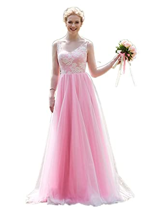 Pink Fitted Wedding Dresses