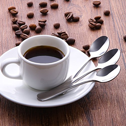 FAZA Demitasse Espresso Spoons,Mini Coffee Spoons,4.7 inches Stainless Steel Spoons Dessert Spoons Bistro Small Spoons Appetizer Spoons-8pcs by FAZA (Image #3)