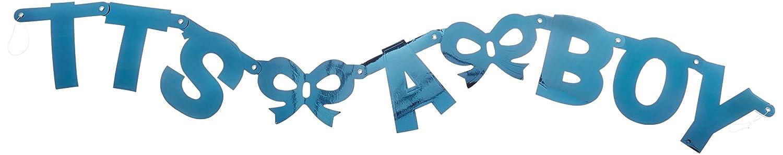 Amscam 121023 Letter Banner 4 3//4 x 6 1//4 Blue Amscan