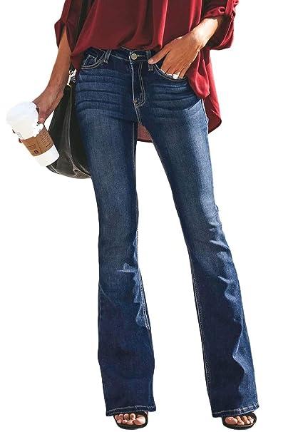 Zabmauek Pantalones Vaqueros para Mujer Cintura Baja Agujero ...