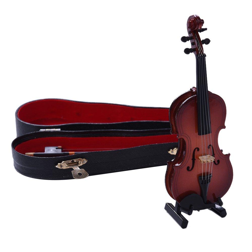 Per Violin Music Instrument Miniature Replica with Case Decorative Gift YDYQ0102ZZ0ZZ001|lara001