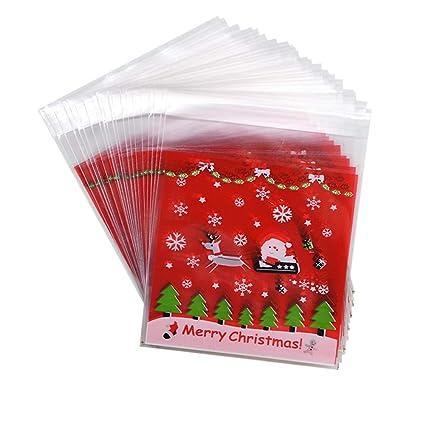 iTemer - 100 bolsas de plástico autoadhesivas para regalo ...