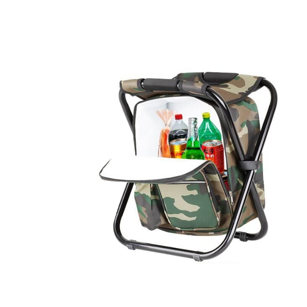 Bright starl Multifunction Folding Cooler and Stool Backpack Picnic Bag, Hiking Camouflage Seat Table Bag Camping Gear for Outdoor Indoor Fishing Travel Beach BBQ by Bright starl (Image #4)