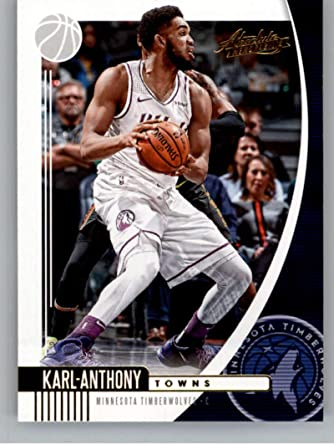 Amazon Com 2019 20 Absolute Retail Basketball 22 Karl Anthony Towns Minnesota Timberwolves Official Nba Trading Card From Panini America Collectibles Fine Art
