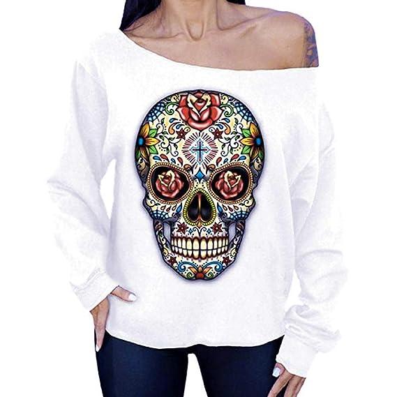 Lenfesh Blusas Mujer sólido con Hombros Descubiertos para Mujer Sudaderas Ropa Mujer de Otoño Invierno Camisetas Manga Larga de Fiesta Túnicas: Amazon.es: ...