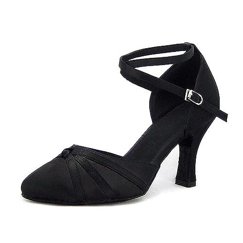 fae17ee1 SUKUTU Mujer Cerrado Toe Dance Shoes Latin Salsa Tango Salón de Baile  Zapatos para la Dama SU026: Amazon.es: Zapatos y complementos