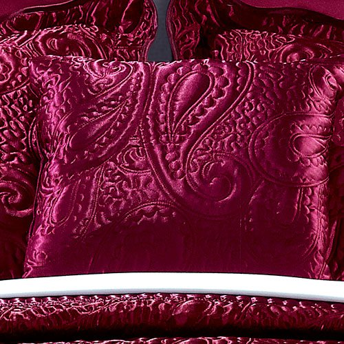 Home Soft Things Serenta Quilted Satin 4 Piece Bedspread Set, King, Burgundy by Home Soft Things (Image #6)