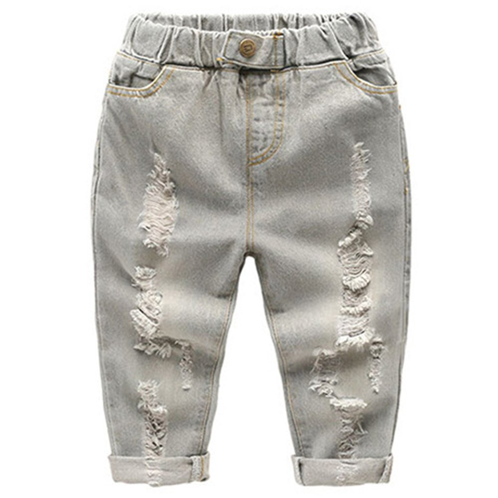 Ian/&Sophia Baby Boys Toddler Kids Fashion Pull-on Ripped Jeans