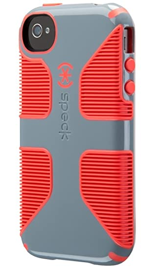 outlet store 15527 77f6b Speck Products CandyShell Grip Case for iPhone 4/4S - Nickel Grey/Warning  Orange