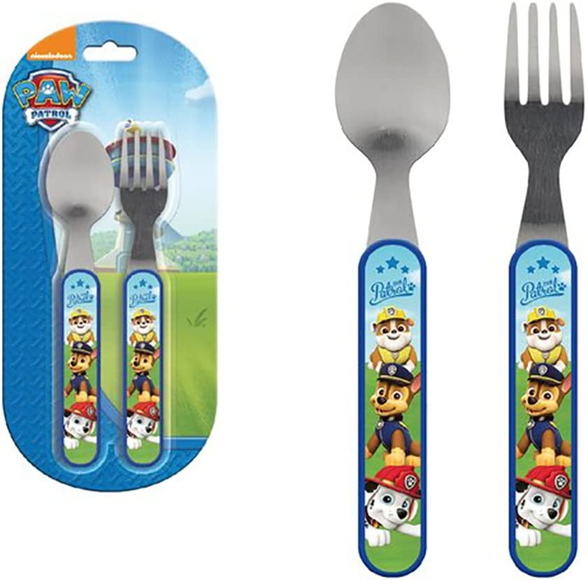 Kids Paw Patrol Metal and Plastic Cutlery Set: Amazon.es: Juguetes ...