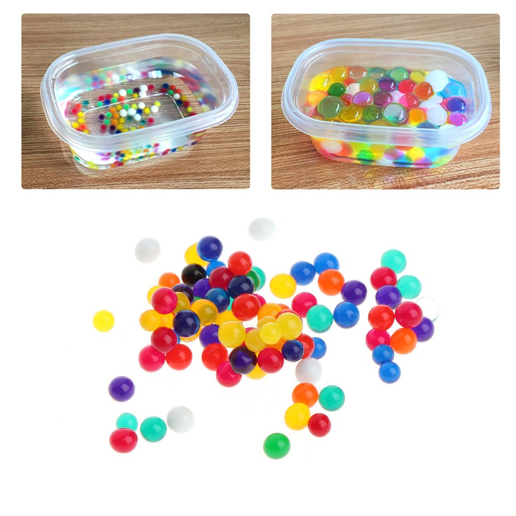 Abicial Water Plant Soil Mud Flower Jelly Hydro Gel Pearl Balls Colorful Crystal Beads
