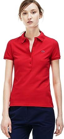 Lacoste Women s Slim Fit Short Sleeve Stretch Mini Cotton Piqué Polo ... dae2522c8d