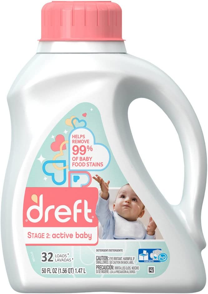 Dreft Active Baby Liquid Detergent, 50.0 Ounce