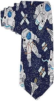 Corbata de hombre azul marino con astroNAuta Corbata de seda de ...
