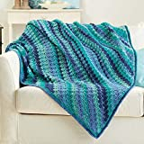 Herrschners® Blueberry Bliss Afghan Crochet Afghan Kit