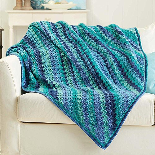 Herrschners® Blueberry Bliss Afghan Crochet Afghan Kit by Herrschners®