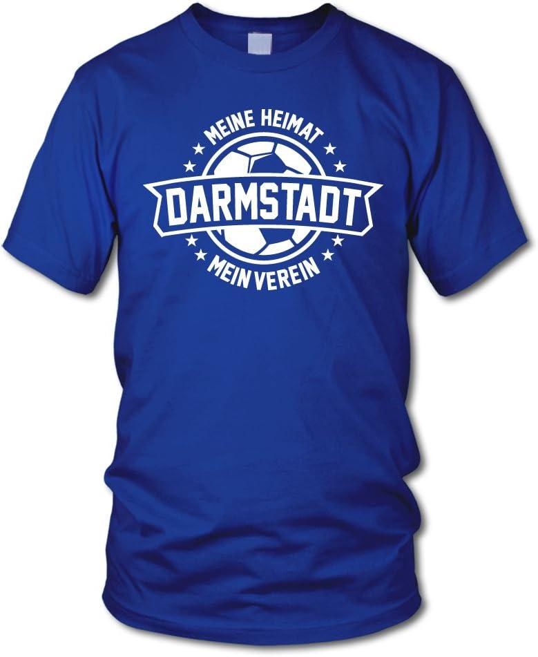 Darmstadt 3XL Meine Heimat shirtloge Mein Verein Fan T-Shirt Gr/ö/ße S
