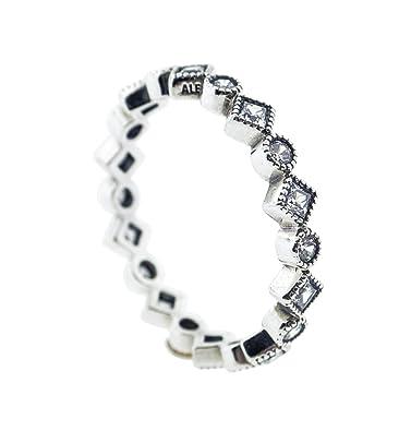 283baee41 Amazon.com: 190943CZ-60 Pandora Sterling Silver Alluring Brilliant Princess  Ring: Jewelry