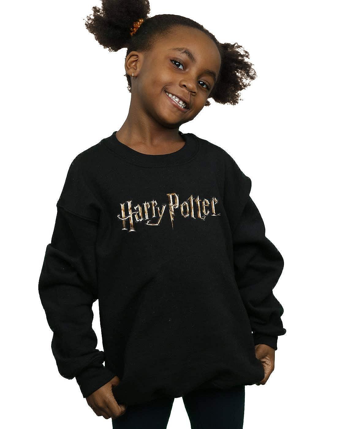 Harry Potter Niñas Full Colour Logo Camisa De Entrenamiento: Amazon.es: Ropa y accesorios
