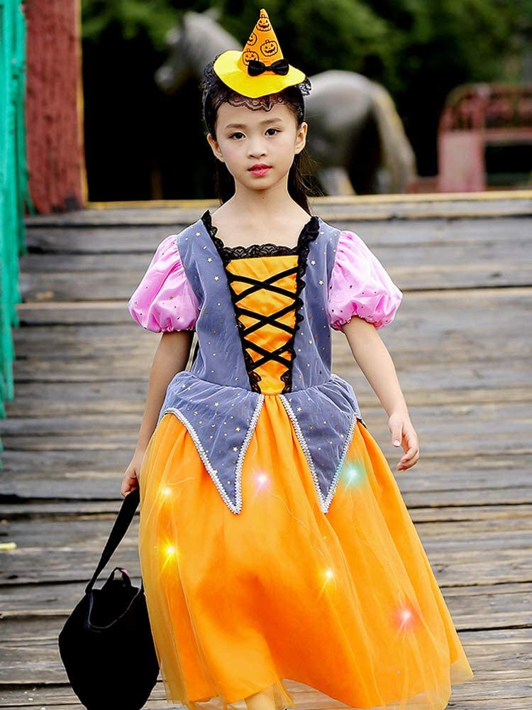AYAYA Disfraz Halloween Ropa para NiñOs Chica Vestido De Calabaza ...