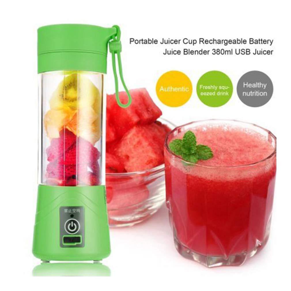 Mini Portable Blender USB Rechargeable Fruit Mixer Juicer 380mL Bottle (Green) Toytexx Inc