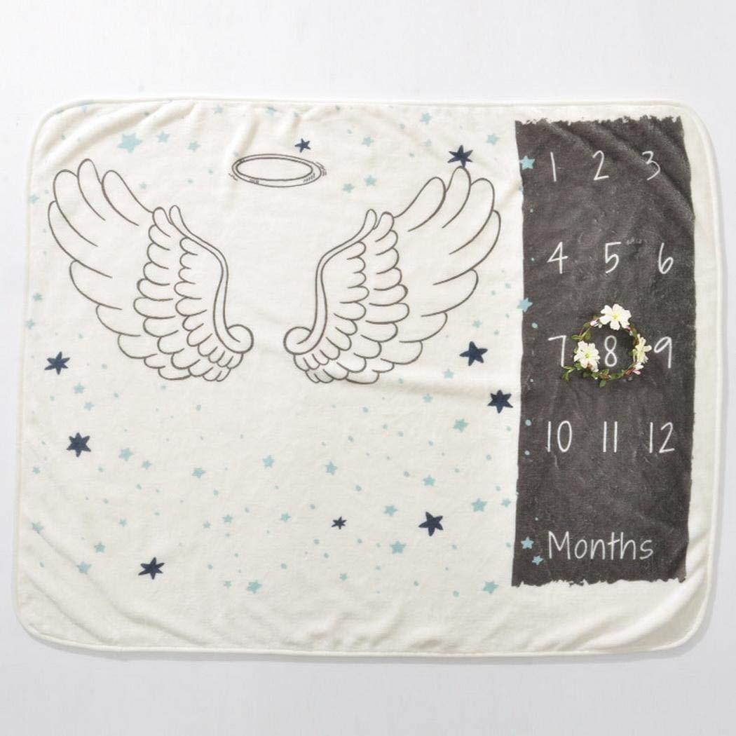 vansop Baby Cartoon Printed Photography Backdrop Soft Baby Milestone Blanket Receiving Blankets