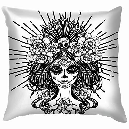 Dia De Los Muertos Holidays Skull Pillow Case