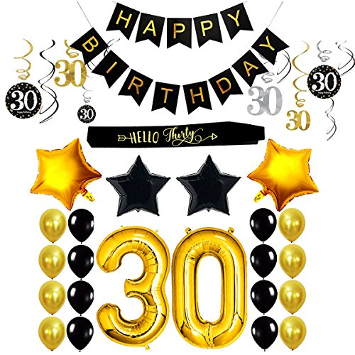 30th Birthday Decorations Party Supplies For Him Her