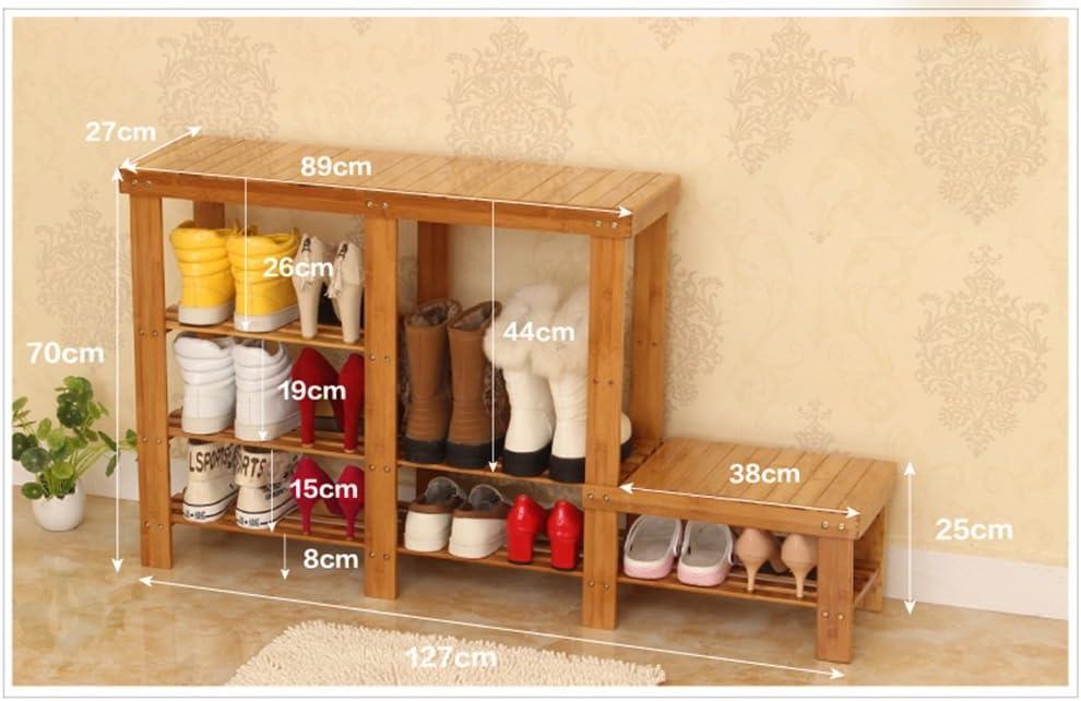 GSHWJS Banco Moderno Simple del Zapato de la Sala de Almacenamiento del jardín Zapatero (Color : Strip Shape, Size : 127 * 27 * 70cm)