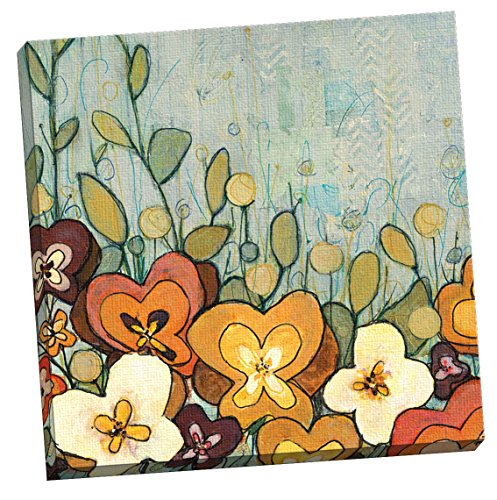 Portfolio Canvas Decor Purple Pansies II Framed and Stretched