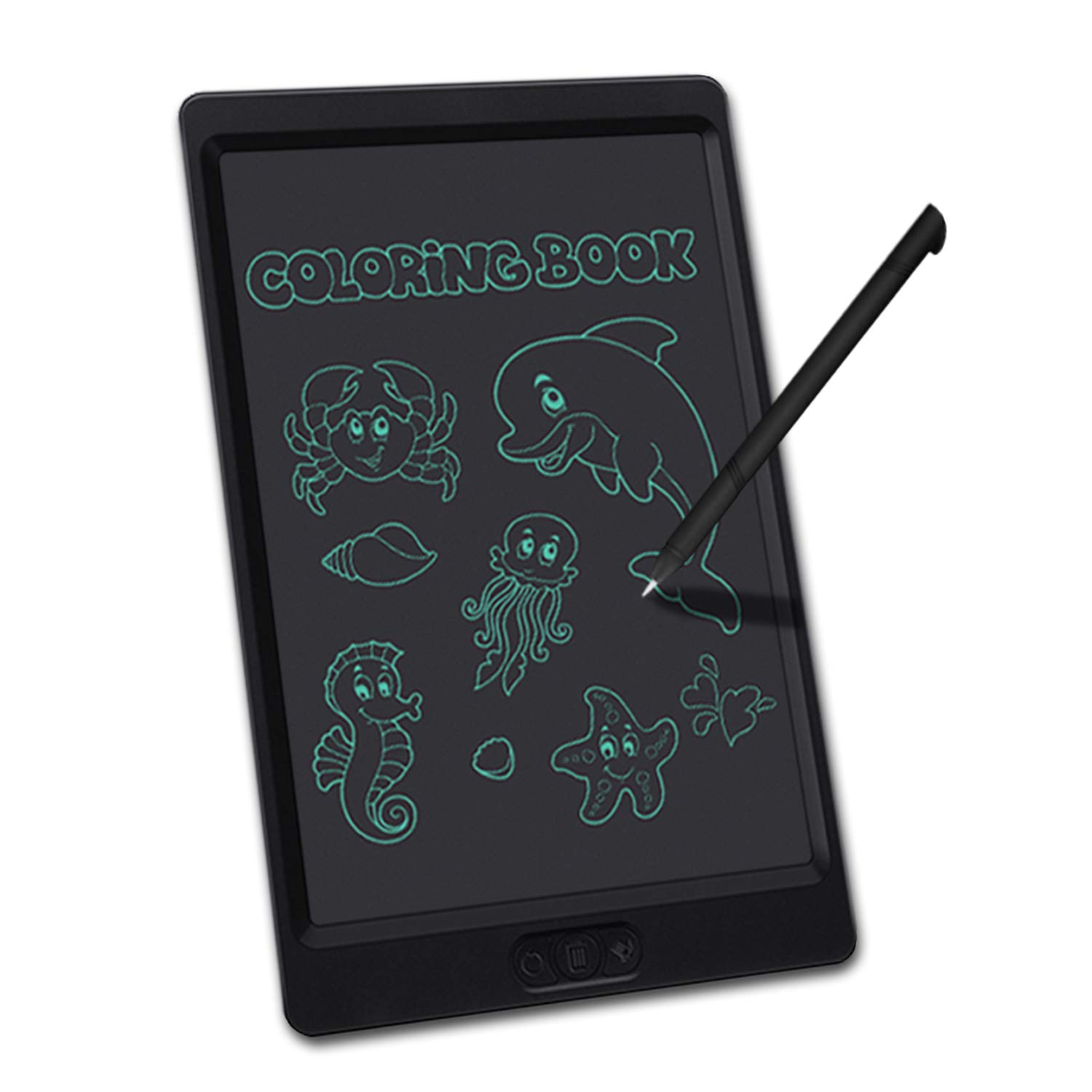 School and Office with Delete Return and Lock Button(Black) LCD Writing Tablet 10 Inch Electronic Drawing and Writing Board for Kids and Adults at Home