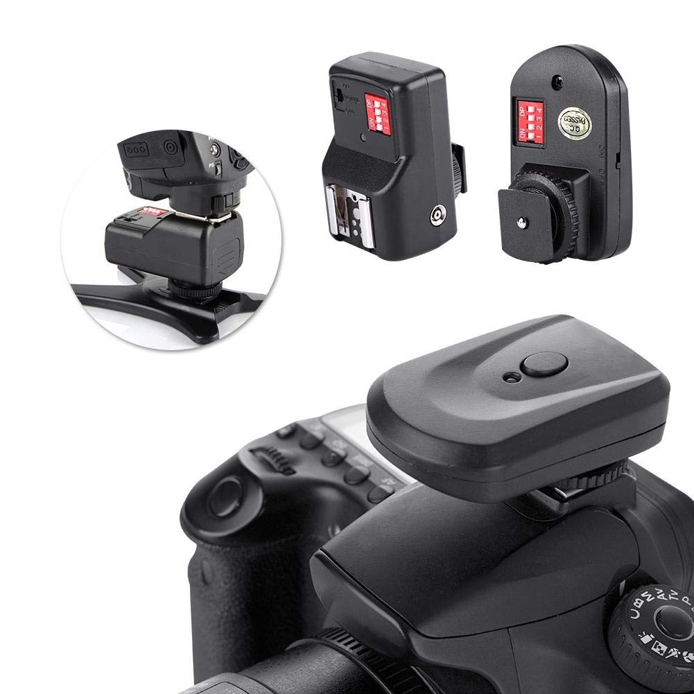 1 Receivers 1 Sync Cord Camera Flash Trigger 16 Channel Wireless Flash Trigger Set with 1 Transmitter