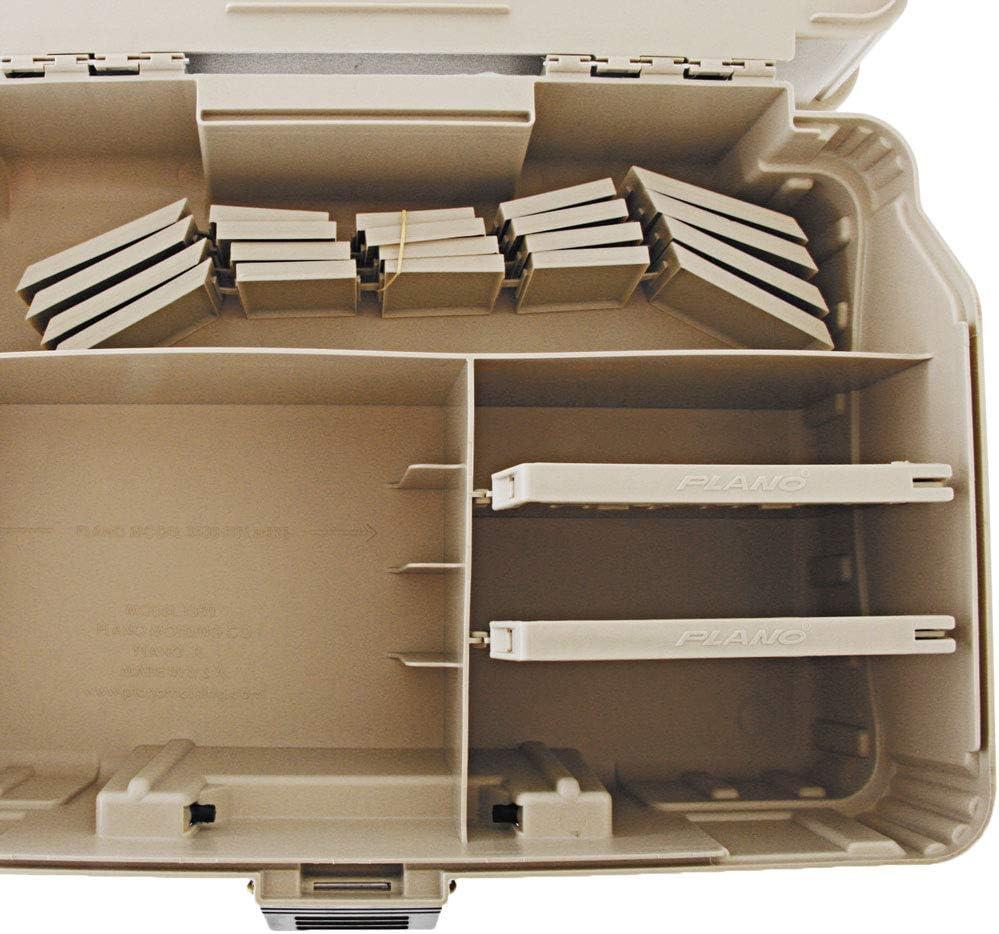 Beige // Blue PLANO Two Level Magnum satchel Tackle Box
